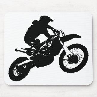 Tapis De Souris Sport blanc noir de Motorcyle de motocross d'art