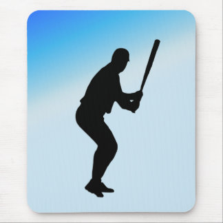 Tapis De Souris Sports de bleu de pâte lisse de base-ball