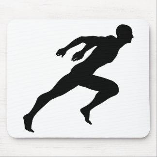Tapis De Souris Sprinter la silhouette d'homme