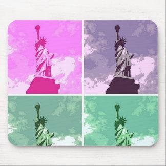 Tapis De Souris Statue de symbole des Etats-Unis d'art de bruit de
