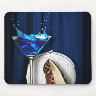 Tapis De Souris stilletos de fille de cocktail de martini de