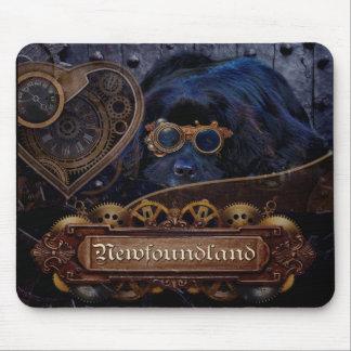 Tapis De Souris Style de Steampunk de chien de Terre-Neuve !
