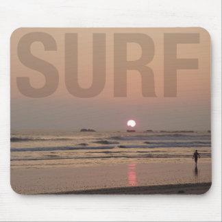 Tapis De Souris Surfer sur la plage à l'ordinateur Mousepad de