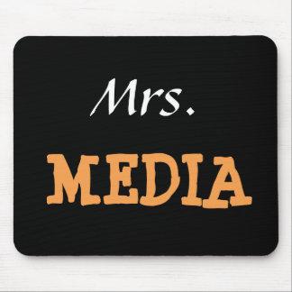 Tapis De Souris Surnom drôle de Mme Media Female Journalist Editor