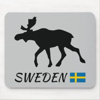 Tapis De Souris Sweden Elk and drapeau