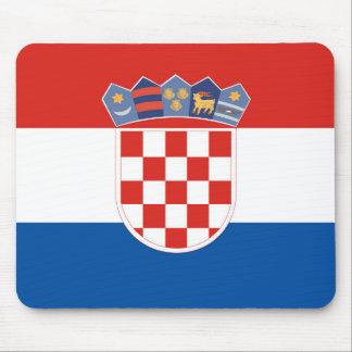 Tapis De Souris Symbole de drapeau de pays de la Croatie longtemps
