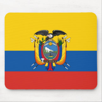 Tapis De Souris Symbole de drapeau de pays de l'Equateur longtemps