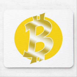 Tapis De Souris symbole de logo de bitcoin tiré par la main