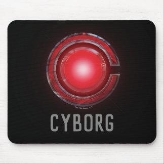 Tapis De Souris Symbole rougeoyant de cyborg de la ligue de
