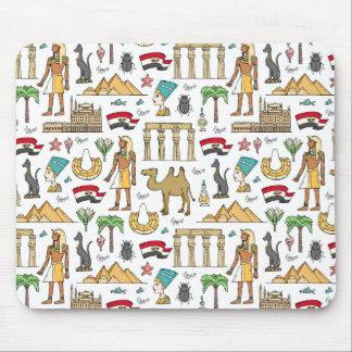 Tapis De Souris Symboles de couleur de motif de l'Egypte
