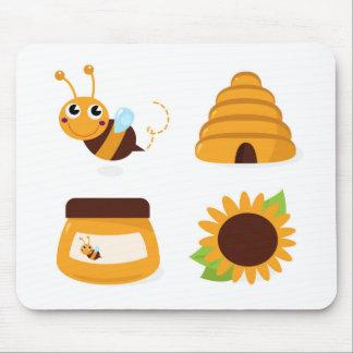 Tapis De Souris T-shirts avec la petites abeille et substance