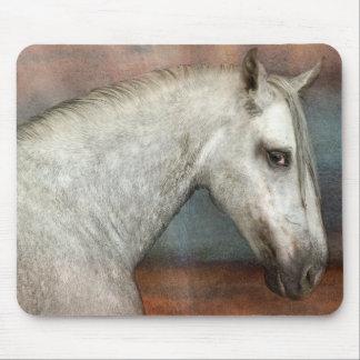 Tapis De Souris Tachetez le portrait andalou gris de cheval