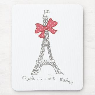 Tapis De Souris T'aime de Paris… Je