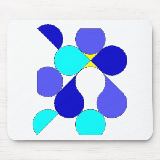 Tapis De Souris Tapis souris motif géométrique bleu et jaune