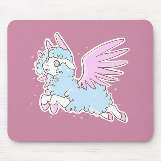 Tapis De Souris Tapis souris mousepad kawaii fantasy sheep pink