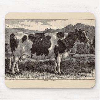 Tapis De Souris Taureau du 19ème siècle du Holstein d'impression