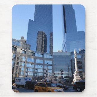 Tapis De Souris Taxi de gratte-ciel du cercle NYC New York de