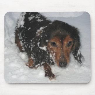 Tapis De Souris Teckel dans la neige Mousepad