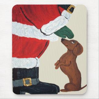 Tapis De Souris Teckel et Père Noël