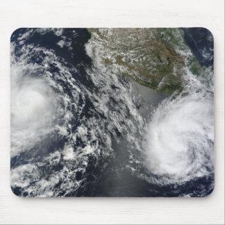 Tapis De Souris Tempêtes tropicales Blas et Celia