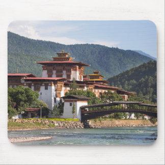 Tapis De Souris Temple bouddhiste par la rivière