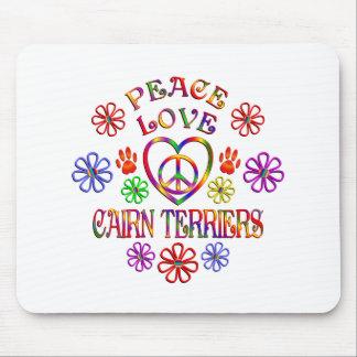 Tapis De Souris Terriers de cairn d'amour de paix