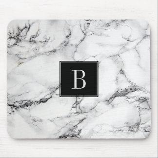 Tapis De Souris Texture de marbre grise et blanche moderne décorée