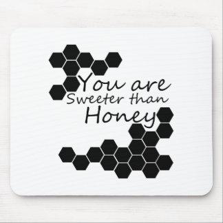 Tapis De Souris Thème de miel avec des mots positifs