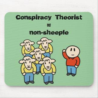 Tapis De Souris Théoricien = non-sheeple de conspiration