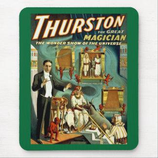 Tapis De Souris Thurston le magicien - l'exposition de merveille