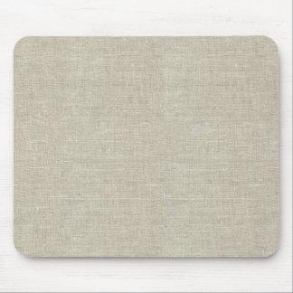 Tapis De Souris Toile beige rustique imprimée