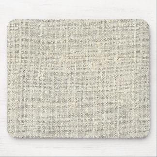 Tapis De Souris toile de jute grise rustique de faux