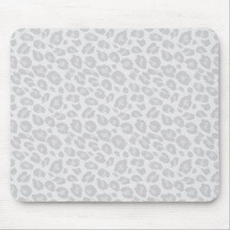 Tapis de souris tonal gris d'empreinte de léopard