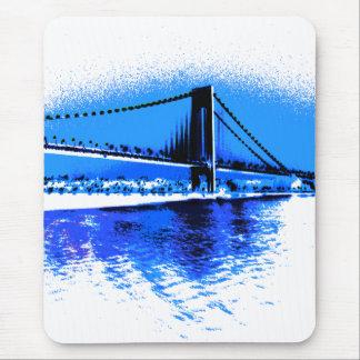 Tapis De Souris Tonalités de mousepad de pont de bleus