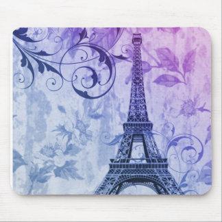 Tapis De Souris Tour Eiffel pourpre chic assez girly de Paris de