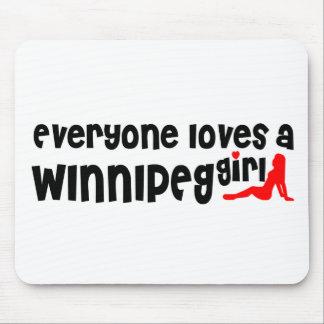 Tapis De Souris Tout le monde aime une fille de Winnipeg