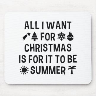 Tapis De Souris Tout que je veux pour Noël est pour qu'il soit été