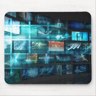 Tapis De Souris Train de données de données d'Internet Digital de