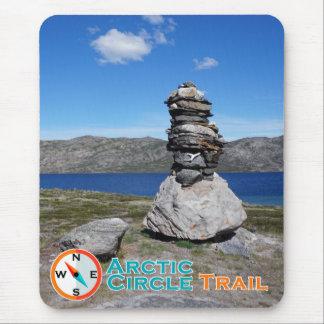 Tapis De Souris Traînée Mousepad de cercle arctique