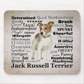 Tapis De Souris Traits Mousepad de Jack Russell
