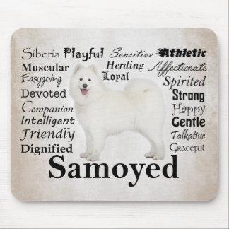 Tapis De Souris Traits Mousepad de Samoyed