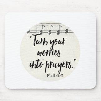 Tapis De Souris Transformez vos inquiétudes en prières
