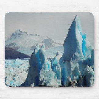 Tapis De Souris Transitoires de glace dans le glacier andin de