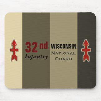 Tapis De Souris trente-deuxième Garde nationale du Wisconsin