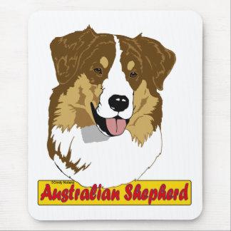 Tapis De Souris Tri rouge de tête australienne de berger coloré
