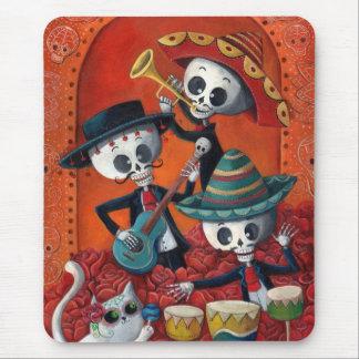 Tapis De Souris Trio de mariachi de Dia de Los Muertos Skeleton