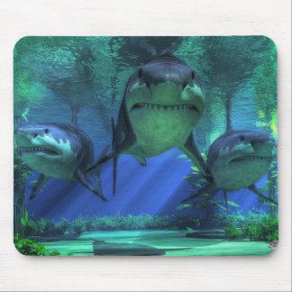 Tapis De Souris Trois requins