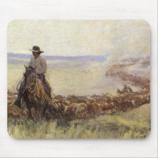 Tapis De Souris Troupeau de traînée vers le Wyoming par WHD
