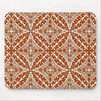 Tapis De Souris Tuiles marocaines - brun et blanc de rouille
