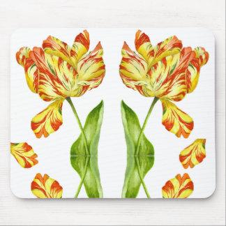 Tapis De Souris Tulipes ardentes sur un Mousepad